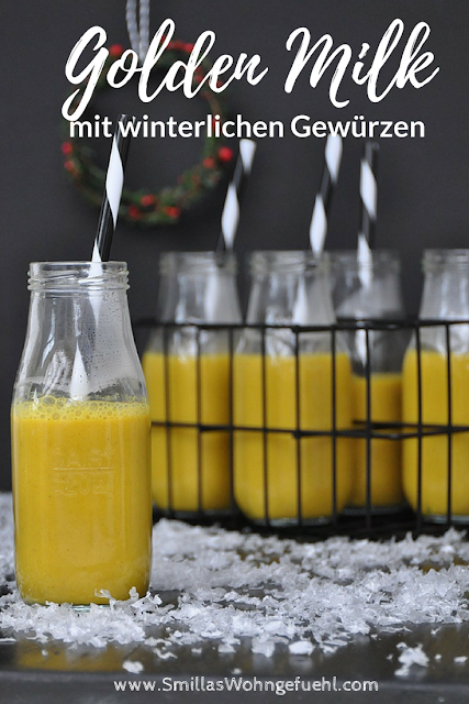 Golden Milk mit winterlichen Gewuerzen vegan