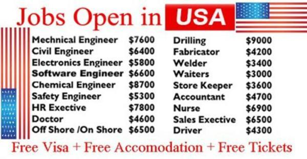 Apply for Urgent Recruitment for Jobs in USA