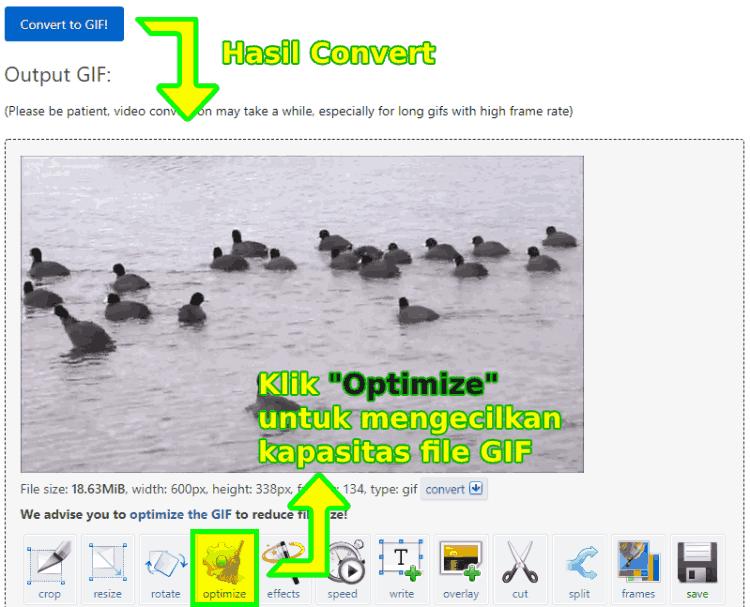 Cara mengecilkan ukuran kapasitas gambar GIF