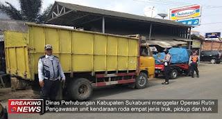 Operasi Rutin Dishub Kab. Sukabumi