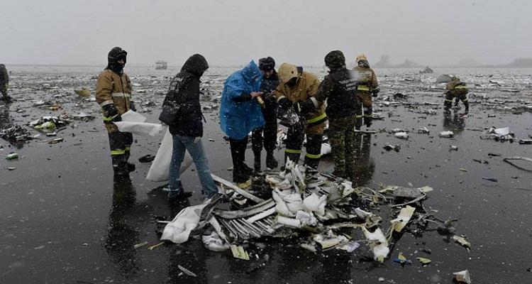 لن تصدقوا ماذا وجدوا لحظات بعد سقوط طائرة ''فلاي دبي'' المنكوبة  في روسيا