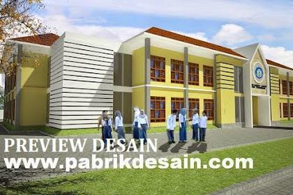 Jasa gambar online desain arsitektur 3d view gedung sekolah Islam