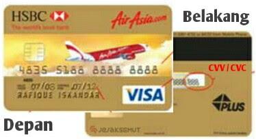 letak kode cvv cvc kartu kredit hsbc