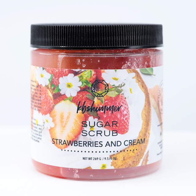 KBShimmer Strawberries and Cream Sugar Scrub
