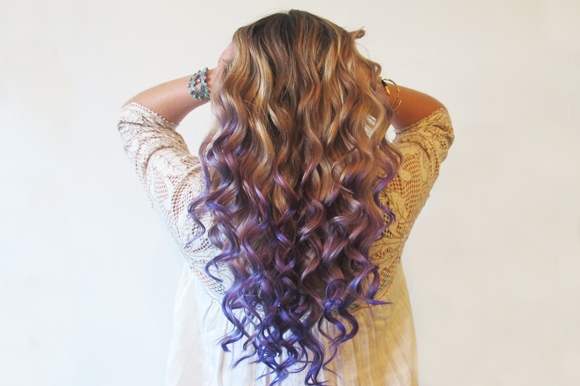 hair, curly, ombre