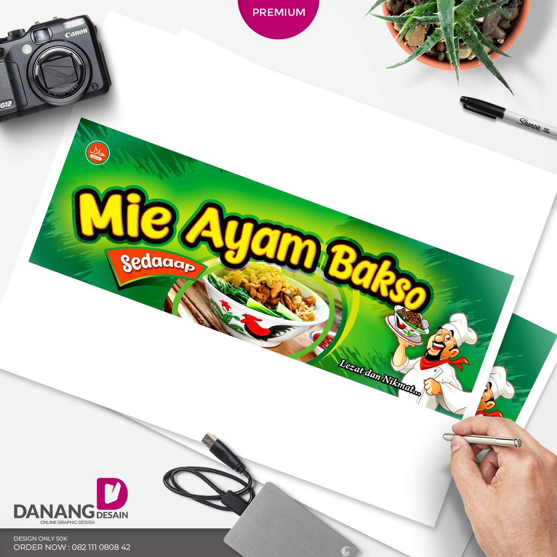 Contoh Desain Banner Spanduk Mie Ayam Bakso - Contoh ...