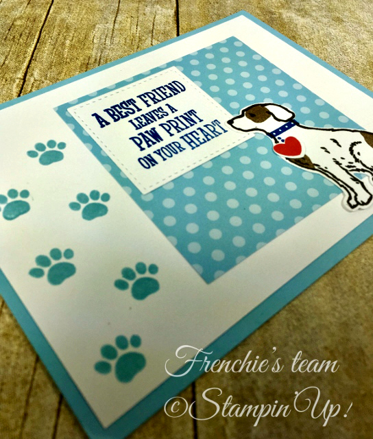 Card, Happy Tails, Dog Builder Punch, Paw Print