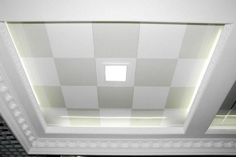 desain plafon ruang tamu mungil tampak minimalis