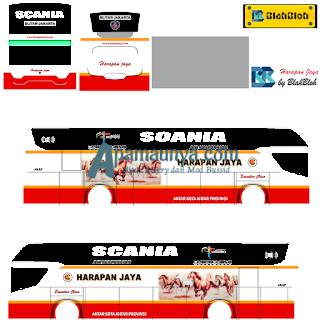 Livery Bus Harapan Jaya Srikandi SHD
