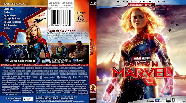 Captain Marvel Bluray Cover
