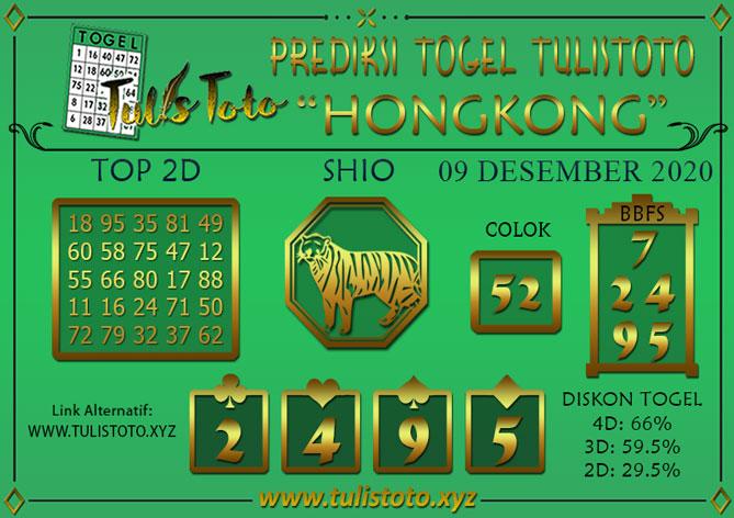 Prediksi Togel HONGKONG TULISTOTO 09 DESEMBER 2020