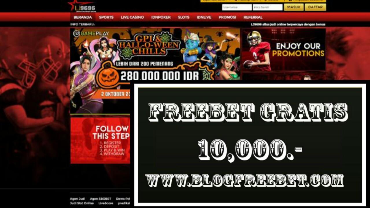 Agen96 Freebet Gratis Rp 10 000 Tanpa Deposit Freebet Gratis