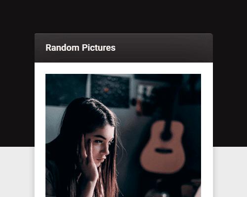 generar imagenes aleatorias con enlaces