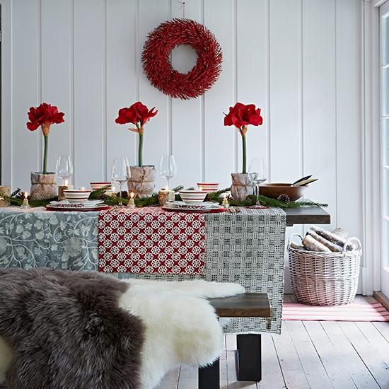 decoração mesa ceia natal