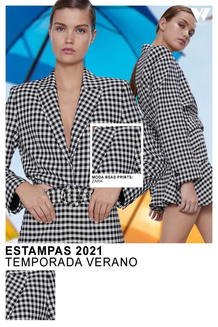 Moda estampados a cuadros primavera verano 2021