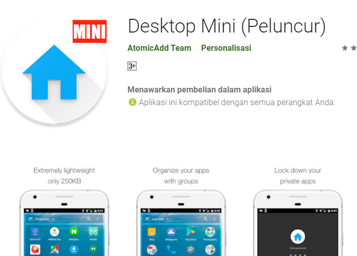 Mini Desktop Tema Android Super Ringan - Info Android
