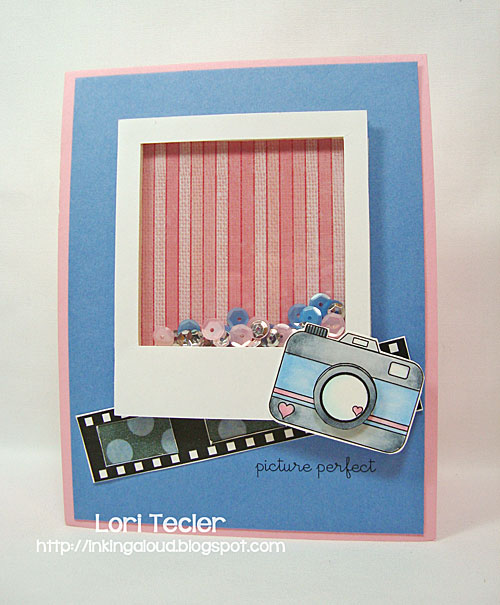 Picture Perfect shaker card-designed by Lori Tecler/Inking Aloud