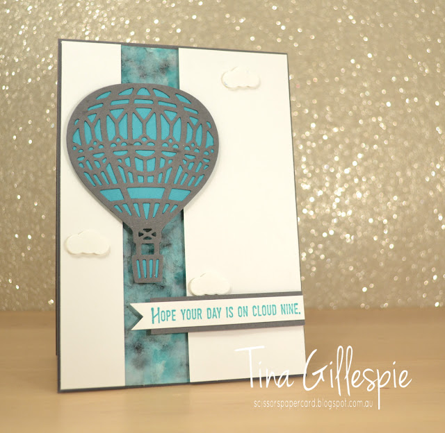 scissorspapercard, Stampin' Up!, Art With Heart, Lift Me Up, Up & Away Thinlits, Polished Stone Technique