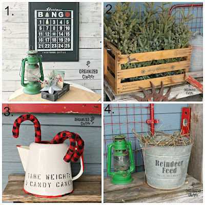 Stenciled Christmas Projects #oldsignstencils