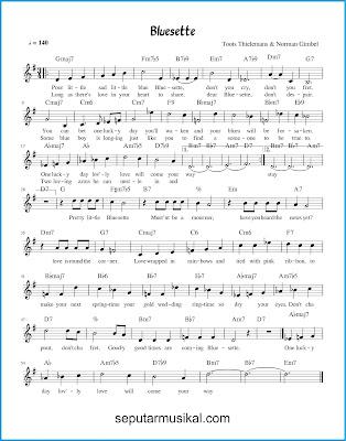 Bluesette chords jazz standar