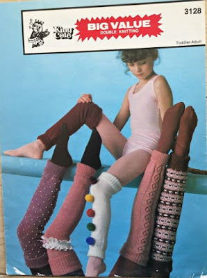 1983 Leg Warmers Knitting Pattern by King Cole