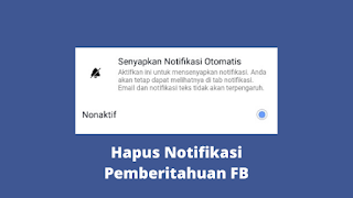 Cara Menghapus Notifikasi Pemberitahuan Di Facebook