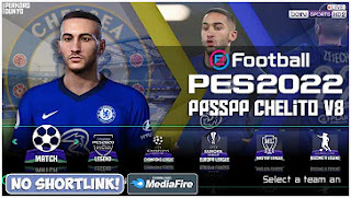 Download eFootball PES 2022 PPSSPP Special Chelsea Edition Best Graphics & English Commentary