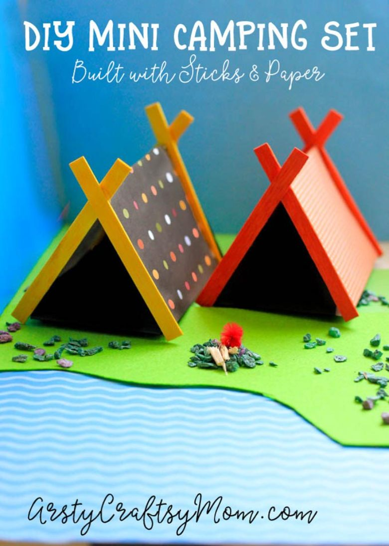 mini camping craft - summer camp craft for kids
