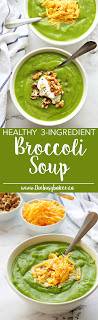 This Healthy 3-Ingredient Broccoli Soup is the perfect healthy recipe that's fat-free and packed with nutrition! Recipe from www.thebusybaker.ca