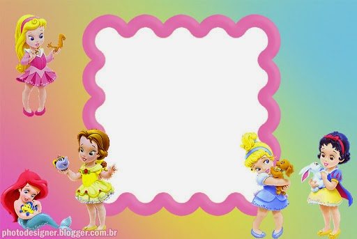 Disney Baby Princess: Free Invitations, Cards or Photo Frames. | Oh ...