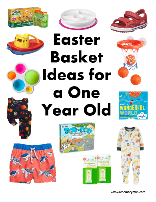Easter Basket Ideas for a One Year Old | What to get a toddler for Easter | A Memory of Us | Easter Basket Ideas for 1 Year Olds