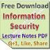 Information Security Lecture Notes PDF Download