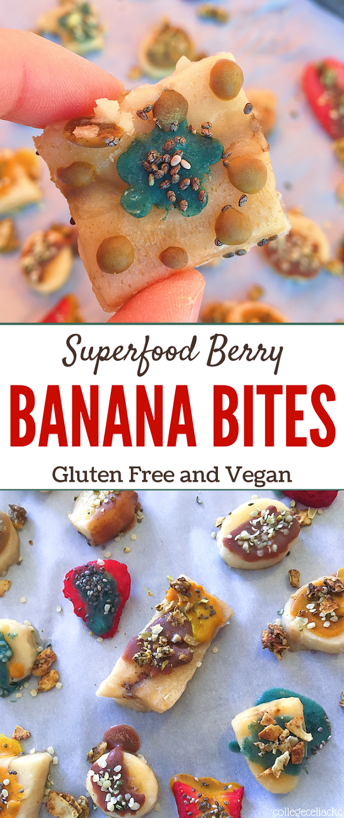 Superfood Berry and Banana Bites (Gluten Free, Vegan)