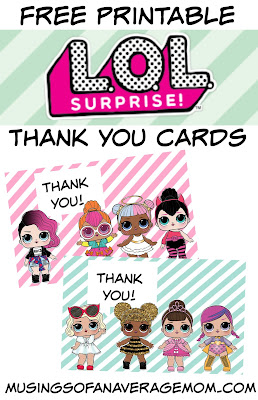 L.O.L. surprise dolls party printables