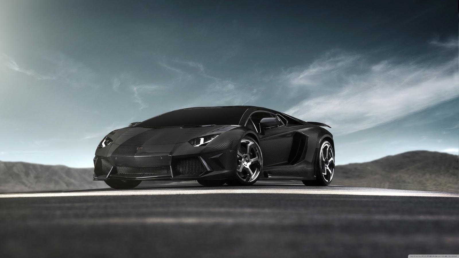 Black Lamborghini Aventador Super Car   Ultra HD Car Wallpapers For Desktop