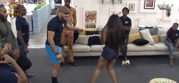 """BBNaija: ''Shut Up Your Mouth!"""" Ozo Clashes With Prince (Watch Video)"""
