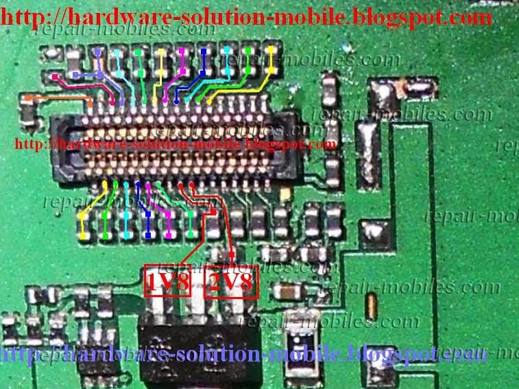 circuit diagram of nokia c2 03 circuit diagram of 7 segment digital clock c2-08, c2-06, c2-03 lcd ways problem solution   mobile solution picture help #12