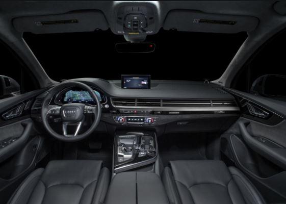 Audi Q7 Black edition 2019 full interior view
