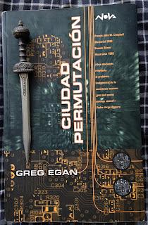 Portada del libro Ciudad Permutación, de Greg Egan