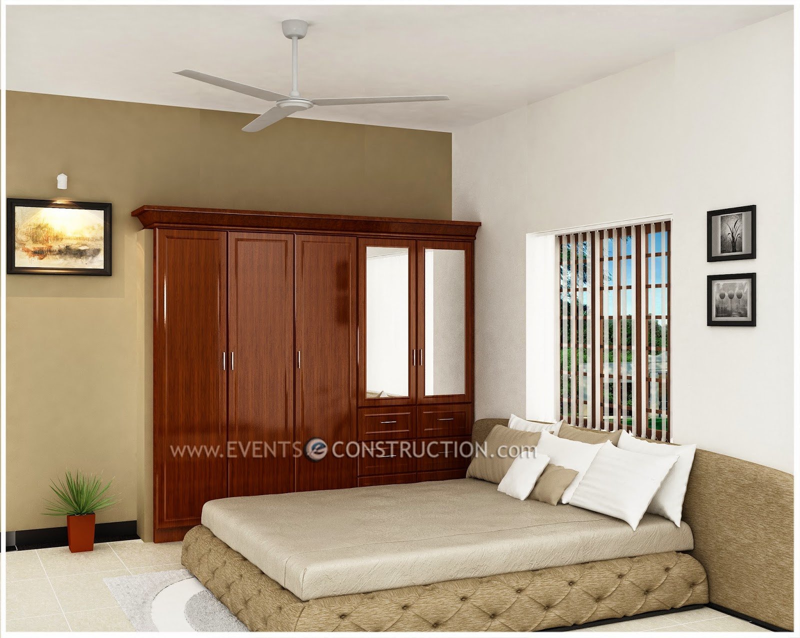 Evens Construction Pvt Ltd Kerala House Bedroom Designs
