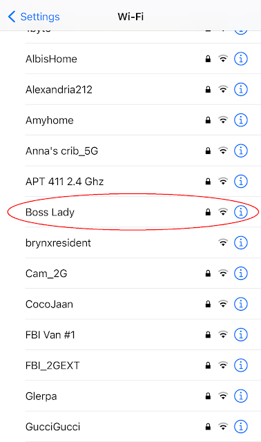 Network name: Boss Lady