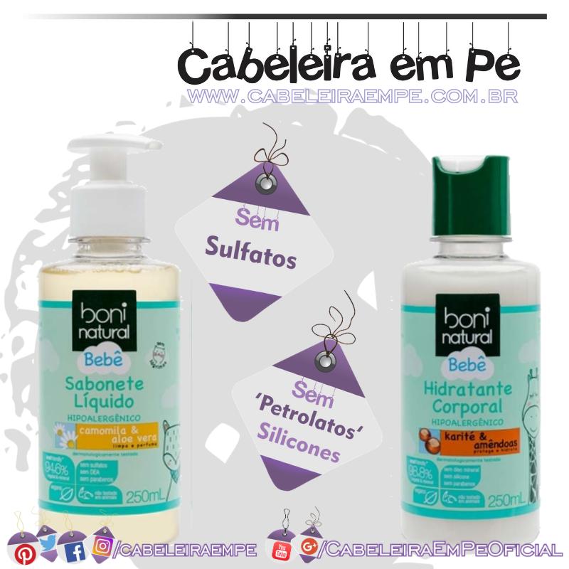 Sabonete Líquido e Hidratante Bebê - Boni Natural