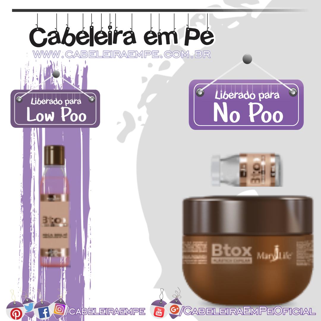 Óleo Reparador (Low Poo) Reconstrutor e Ampola (Liberados para No Poo) Btox Plástica Capilar - Mary Life - Bio Instinto