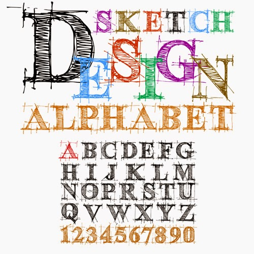 Sketch Design Vector Alphabet