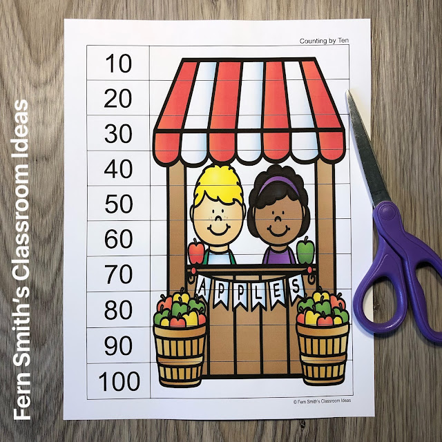 Click Here to Download This Fall Counting Puzzles Resource for Your Students Today!