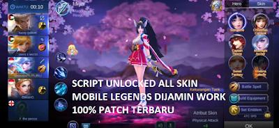 Script Skin ML Unlocked Semua Skin Gratis