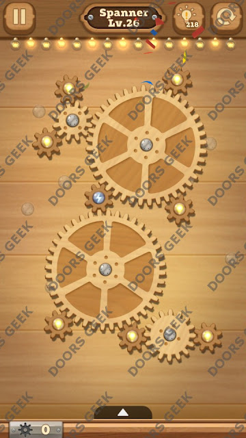 Fix it: Gear Puzzle [Spanner] Level 26 Solution, Cheats, Walkthrough for Android, iPhone, iPad and iPod