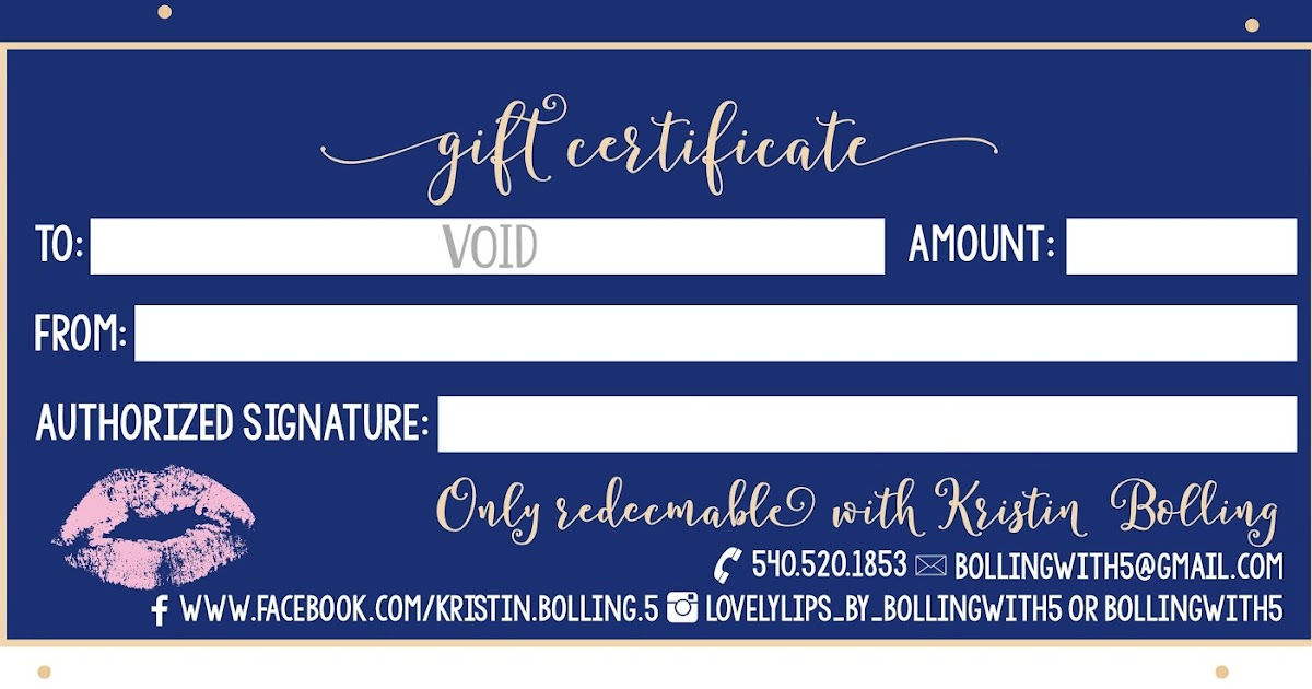 Bolling With 5 Lipsense Gift Certificates