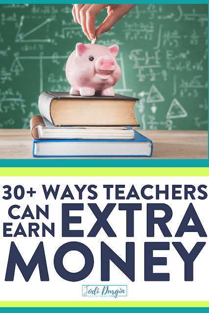 Are you an elementary classroom teacher looking to make some extra money on the side or during the summer? Consider the 30 ideas listed in this Clutter-Free Classroom blog post. Who couldn't use some extra cash? Read the blog post to learn more! #sidehustles #sidehustle #sidehustleideas #sidejob #sidejobs #sidejobideas #parttimejob #parttimejobs #parttimejobideas #teacherlife #teachersalary