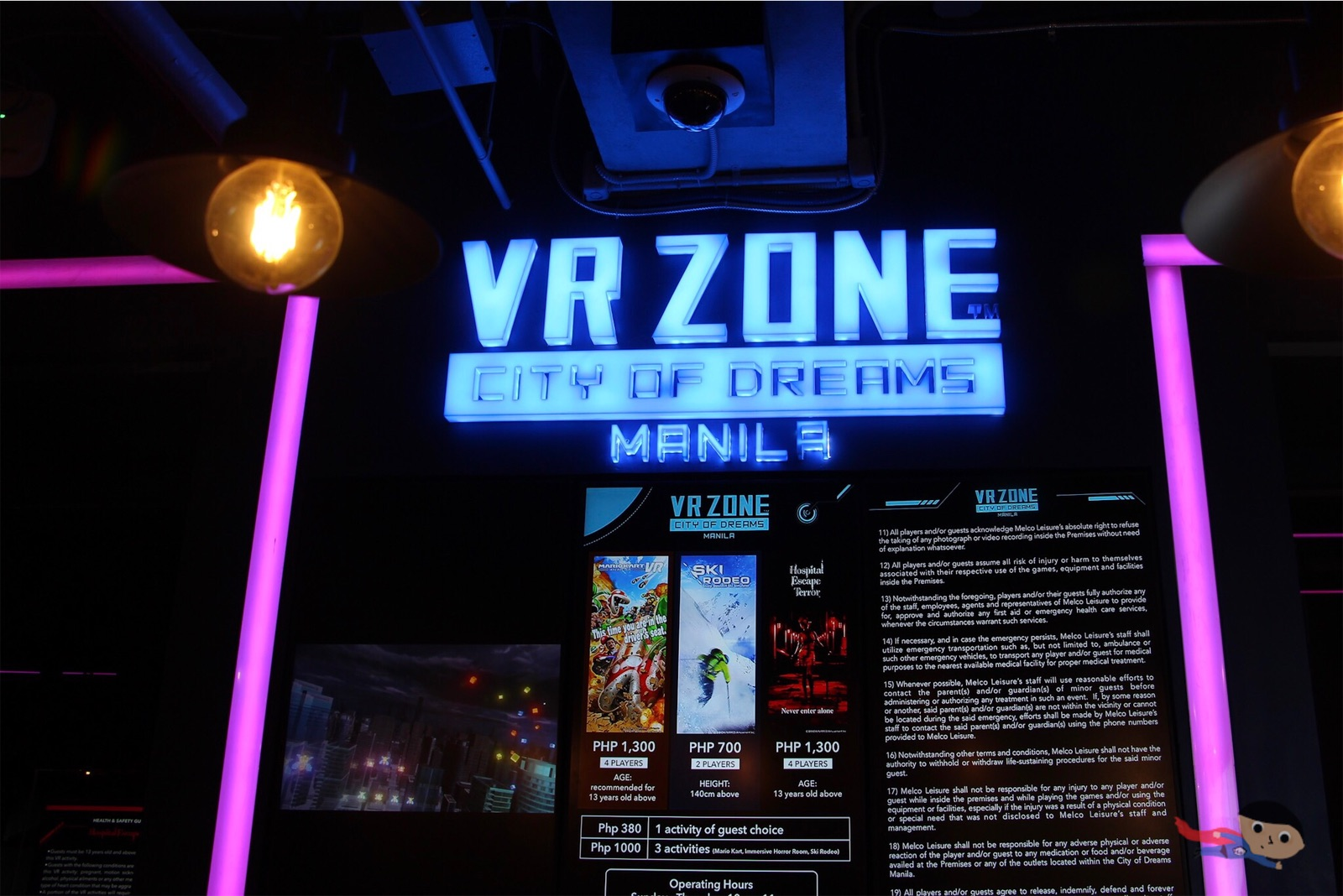 The garage s vr zone in city of dreams rates review wander
